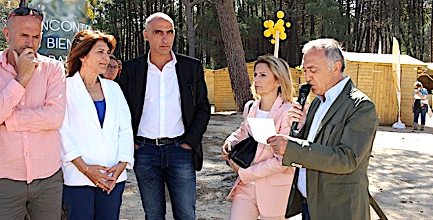 Inauguration dans la pinède de Calvi des 4èmes Rencontres du Bien-être