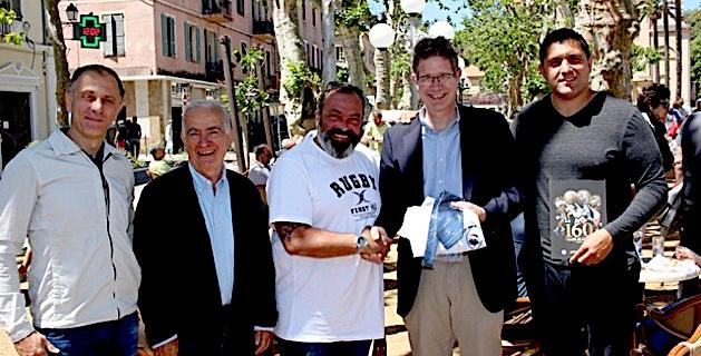 Le partenariat entre le Comité corse de Rugby et l'équipementier Gilbert officialisé à L'Ile-Rousse