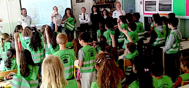 Bastia : 41 élèves de l'école Charpak ont subi avec succès l'épreuve théorique du permis cycliste