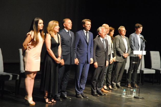 François Baroin et les candidats LR de Corse