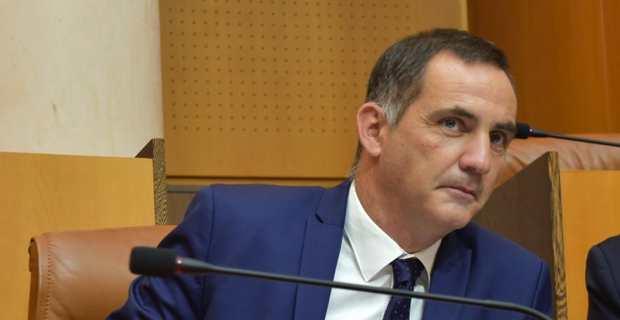 Gilles Simeoni, président du Conseil eexécutif de la Collectivité territoriale de Corse (CTC).