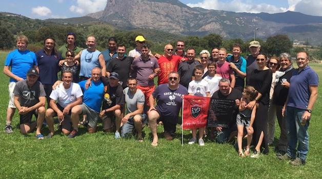 Les anciens champions du Rugby Club Toulonnais de passage en Corse