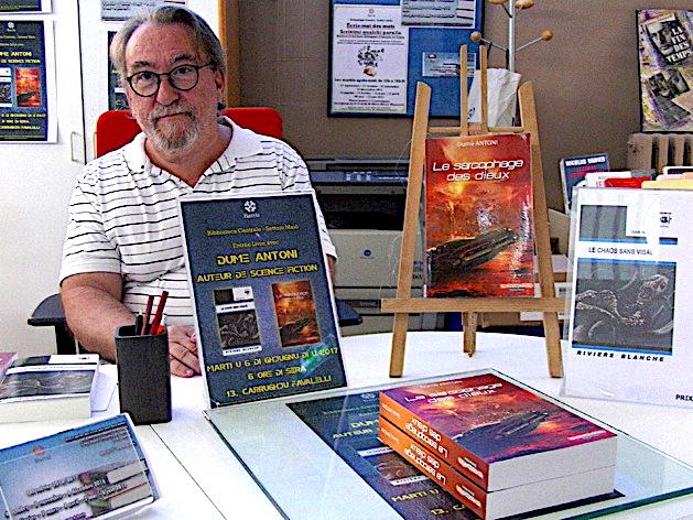 Bastia : L'auteur de science-fiction Dumè Antoni à la bibliothèque centrale