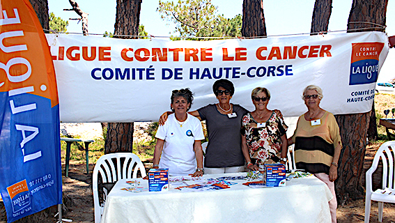 Campagne de prévention de la Ligue contre le Cancer à Calvi