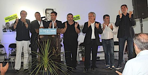 Le meeting de Jean-Martin Mondoloni et Dominique Andréani à Calvi
