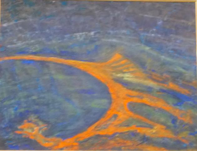 Peindre la Méditerranée, peindre le cosmos : Pierre Andrei exposé à Locu Teatrale
