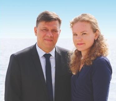 Christophe Canioni, et sa suppléante Irina Luciani.