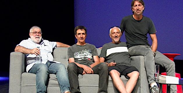 "Guy Cimino, Jean-Baptiste Filippi, Henri Olmeta et Thomas Bronzini, carré gagnant du ""cube de Palmyre"""