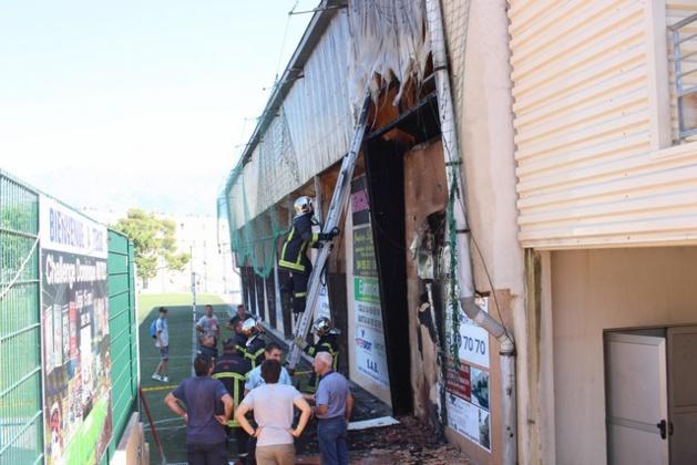 Début d'incendie criminel au gymnase municipal de Calvi