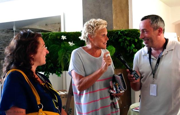Creazione a reçu samedi la visite de Muriel Robin (Photo Carine Poletti)