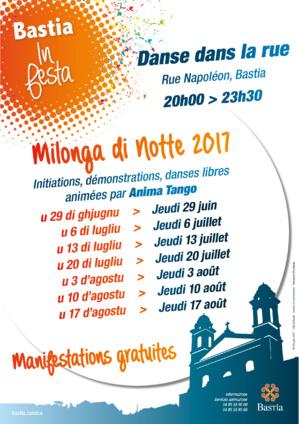 Programme des soirées Milonga di Notte 2017