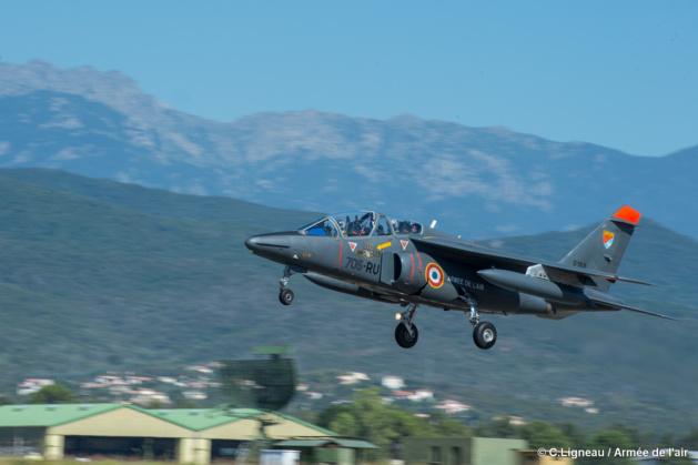 Les élèves-pilotes de l'école de l'aviation de chasse s'entraînent à Ventiseri-Solenzara