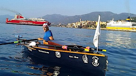 Un nouveau tour de Corse à la rame pour Patrick Boni