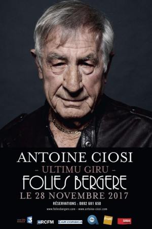 "Antoine Ciosi entame son "" ultimu giru"" aux Folies Bergère"