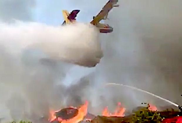 Biguglia : 10 000 m3 de bois en feu à Tragone