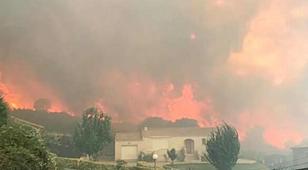Feu d'Olmeta di Tuda : 1 500 hectares parcourus, 10 voitures détruites et la scierie Luciani touchée à Biguglia