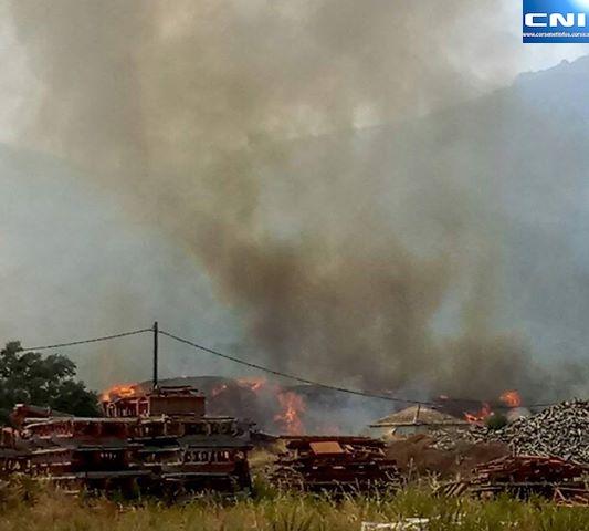 L'incendie de Tragone a des conséquences sur la collecte des déchets