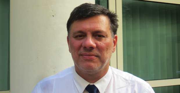 Christophe Canioni, président d'Avene Corsu, conseiller territorial non-inscrit, en dissidence du groupe Front National à l'Assemblée de Corse.