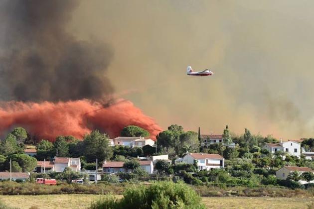 Le hameau de Suarte, à Calenzana, menacé par les flammes, les habitants évacués.