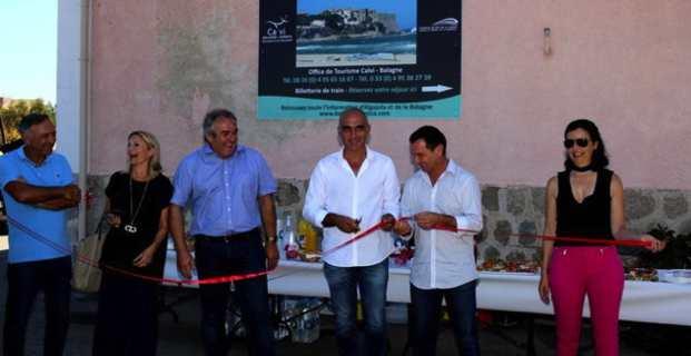 Algajola : Le premier bureau d'information touristique intercommunal Calvi-Balagne inauguré