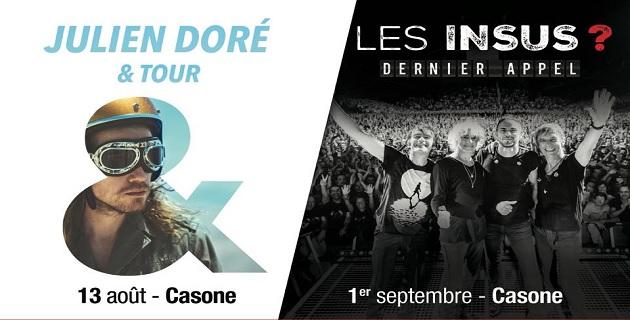 Key-Prod et CNI mettent en jeu les deux dernières places du concours pour le concert de Julien Doré au Casone