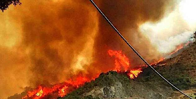 Loretu di Tallà : 130 hectares détruits, 2 pompiers blessés