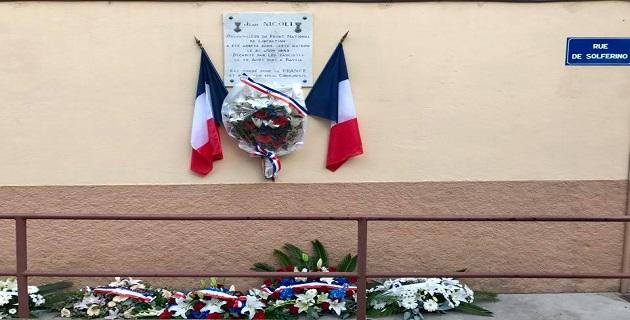 Résistance : Ajaccio rend hommage à Jean Nicoli