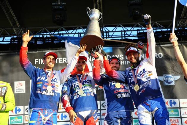 Christophe Charlier, champion du Monde ISDE enduro avec l'équipe de France