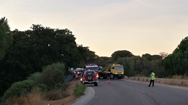 Accident spectaculaire sur la route de l'aéroport à Calvi