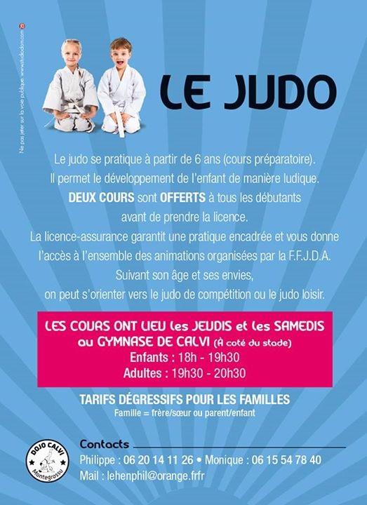 Reprise du judo au Dojo de Calvi-Montegrossu