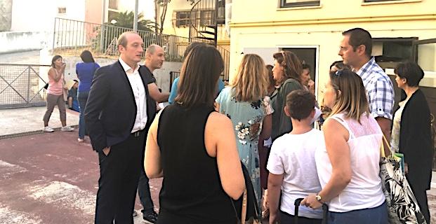 Ajaccio: La rentrée à l'école Sampiero