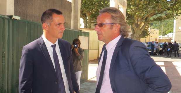 Le président de l'Exécutif et le recteur de l'académie de Corse.