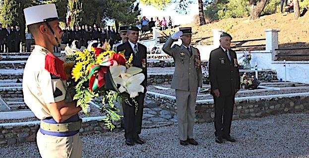 Cérémonie au carré militaire de Calvi avec les anciens du 2e REP