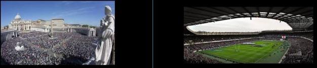 Le Vatican et le Stade d'Edimburg