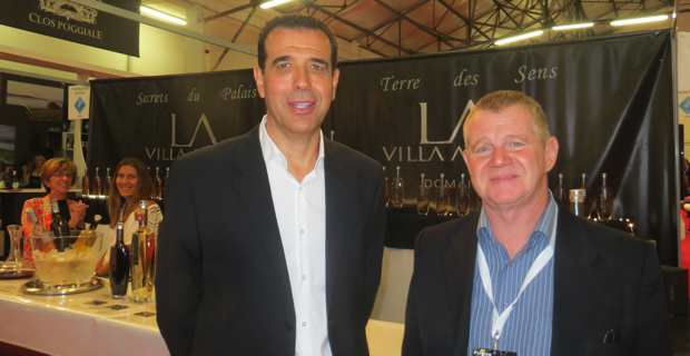 "Etienne Lovisi et Paul Perinelli, respectivement président et membre de l'association Corsica'Azzione, organisateurs du ""village corse"" à la foire internationale de Marseille."
