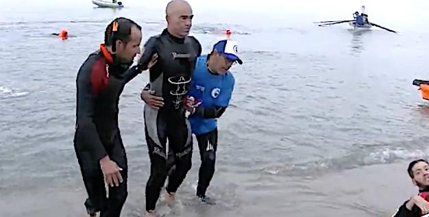 L'Exploit ! Thierry Corbalan relie Monte Cristo à la Corse à la nage en 26 heures !
