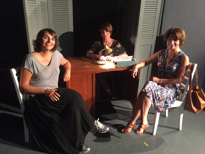 """Angelina Gabrielli, Claire Le Goff et Jeanine Casta au théâtre Sant'Angelo dans """"Deux petites dames vers le Nord"""""""