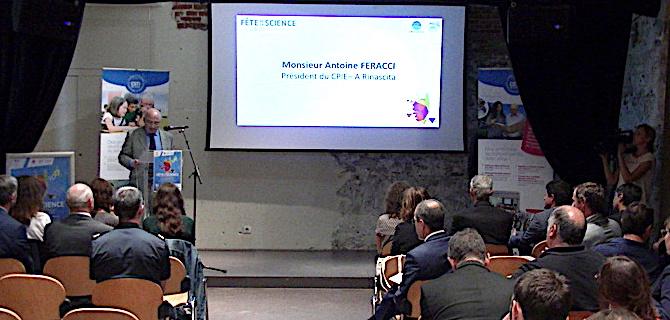 L'intervention de Antoine Ferracci, président du CPIE-A Rinascita