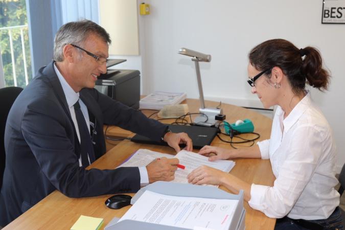 Le Dr C. Filippi et C. Rinieri secrétaire des URPS Pharmaciens Corse