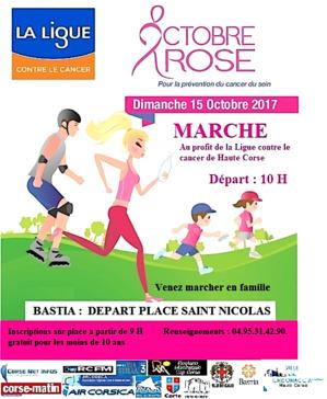Cancer du sein : On va marcher en Haute-Corse pour sensibiliser le public au cancer du sein