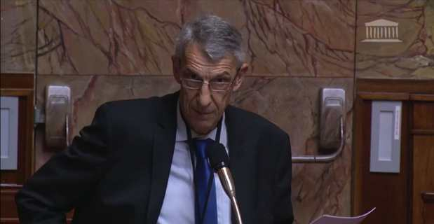 Michel Castellani, député de la 1ère circonscription de Haute-Corse, lors de son intervention à l'Assemblée nationale.