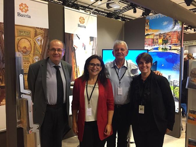 La délégation de la ville de Bastia : Philippe Peretti, Caroline Michel, Josian Calloni et Marie-Hélène Giuly
