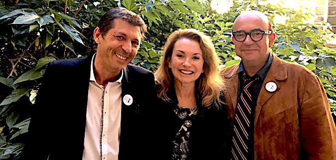 Jérôme Paoli, Daisy d'Errata et Karl Zéro, organisateurs du festival du film politique.