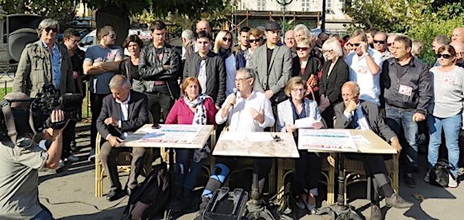 La liste, « L'Avenir, la Corse en Commun », soutenue par Corse Insoumise, le Parti Communiste, Manca Alternativa, Ensemble  et des militants associatifs, syndicaux et culturels.