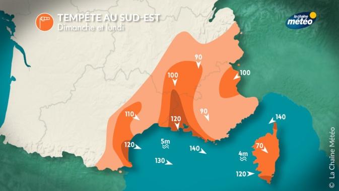 """La Corse placée en vigilance jaune  """"Orages, Pluie-inondation"""""""