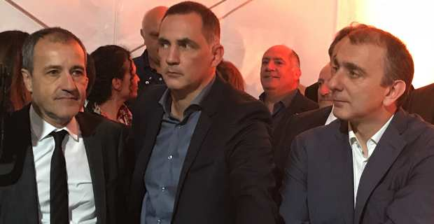 Jean-Guy Talamoni, Gilles Simeoni et Jean-Christophe Angelini.