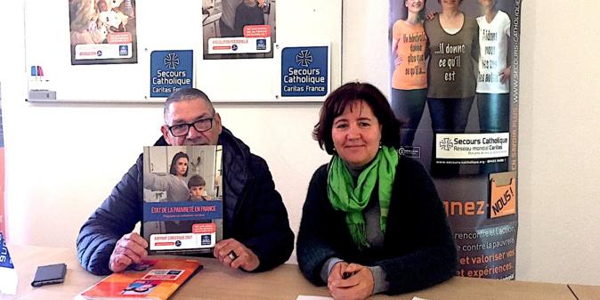 Michel Kemel, président et Germaine Bourdais, déléguée pour la Corse