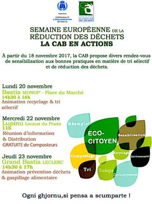Réduction des déchets : Une semaine d'animation avec la communauté d'agglo de Bastia