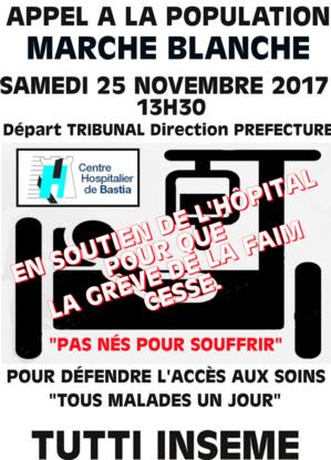 Bastia : Une marche blanche pour l'hôpital