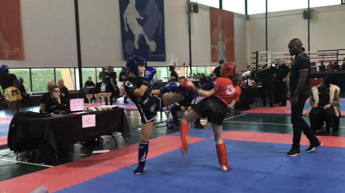 L'ajacienne Océane Ayala, vainqueur de la Coupe de France de Kick Boxing